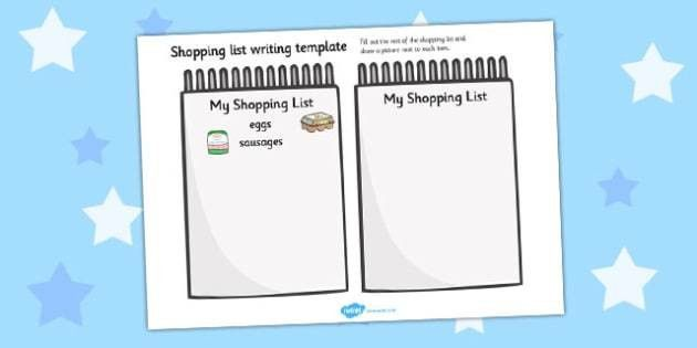 List Template - templates, shops, lists, organised