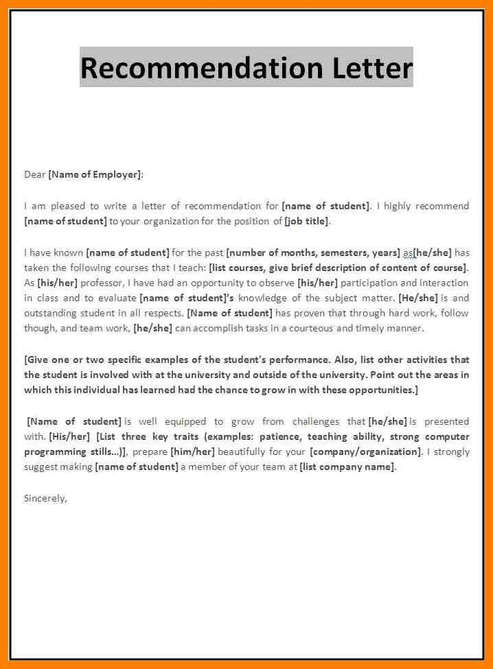 7+ recommendation letter template for employee | joblettered