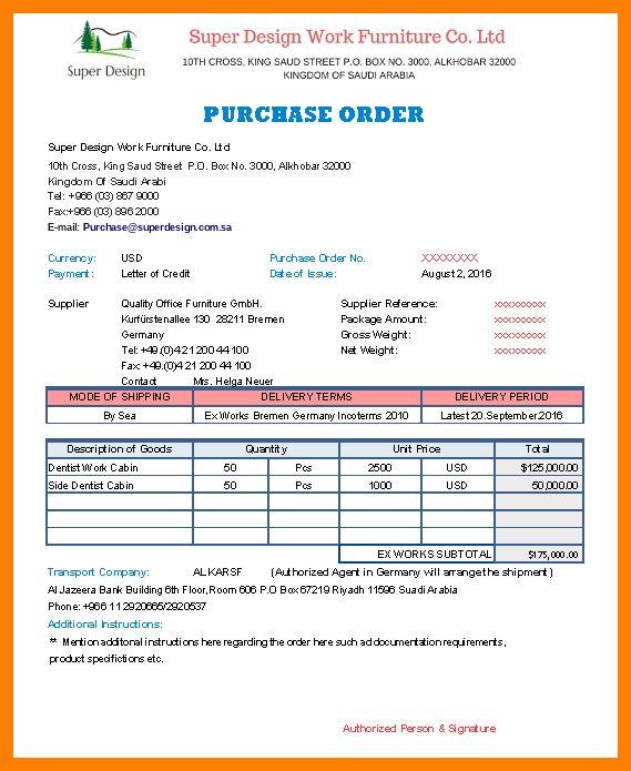 12+ delivery order sample | addressing letter