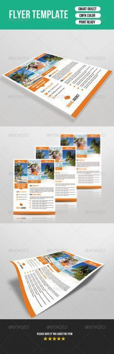 Holiday Travel Flyer & Poster Template | Flyer template, Flyer ...