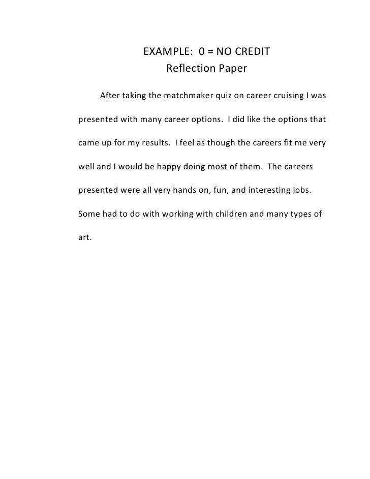 sample of reflection essay