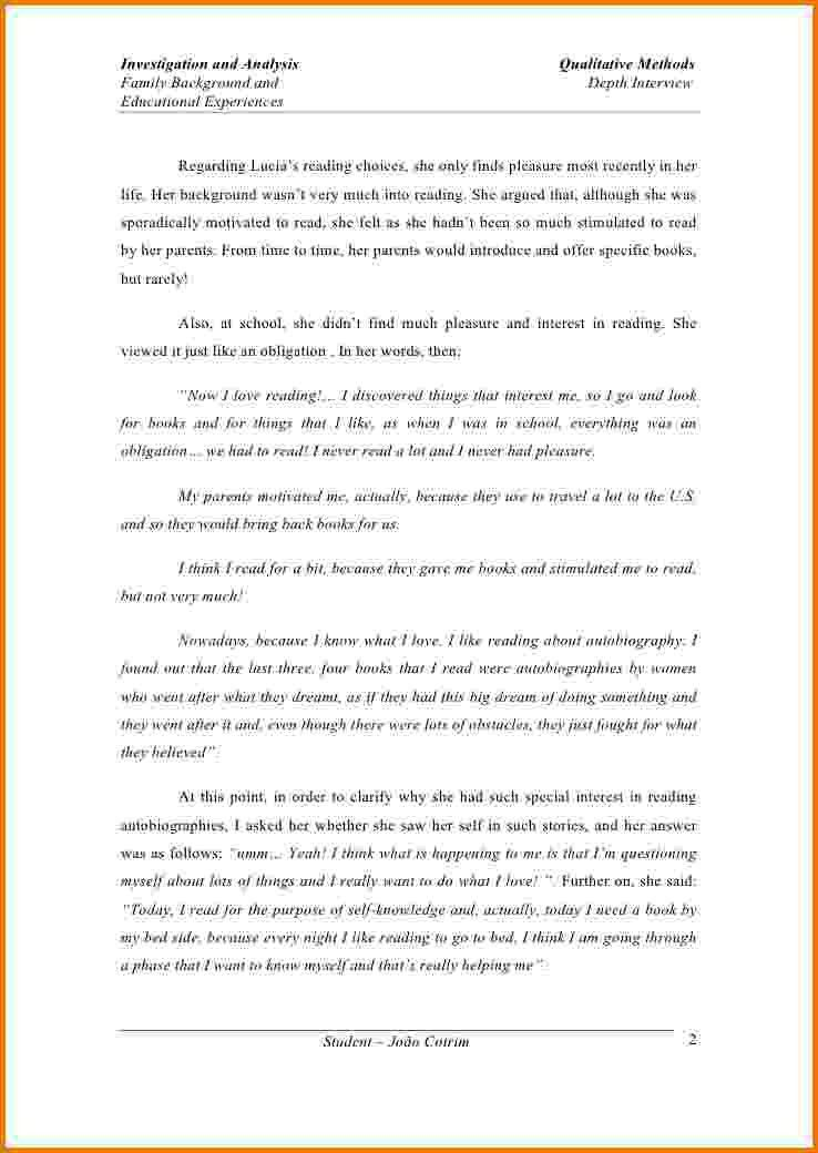 form of essay with examples