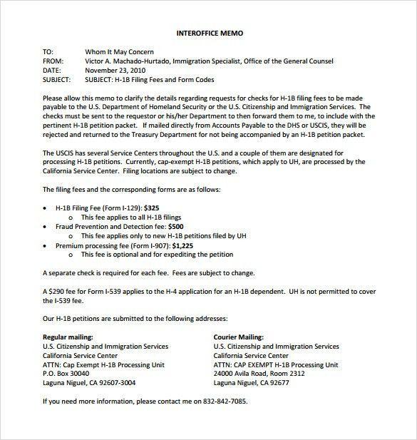 Sample Interoffice Memo - 5+ Documents In PDF