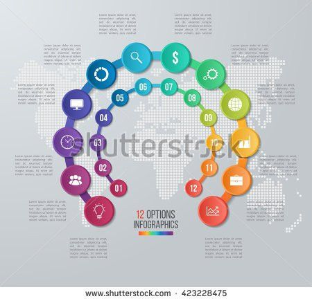Vector Circle Infographic Template Graphs Charts Stock Vector ...