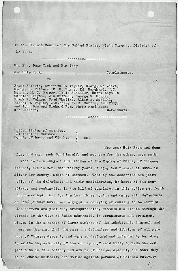 Affidavit and Flyers from the Chinese Boycott Case | National Archives