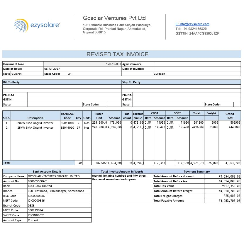HSN & SAC CODES of GST | Ezysolare Blog