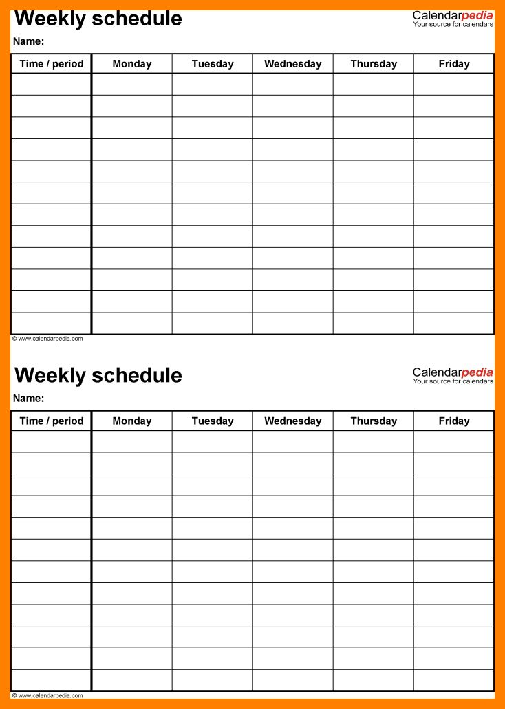3+ weekly planner template pdf | attendance sheet
