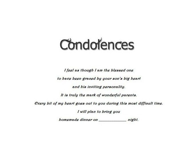 condolence meeting invitation sample : Cogimbo.us