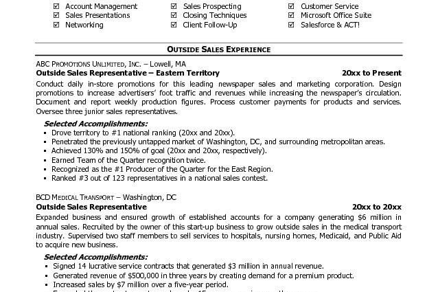sales representative resume objectives car sales representative ...