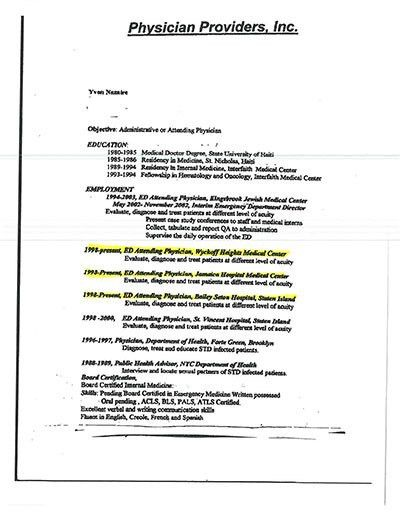 Georgia job application gave false picture of prison doctor's career