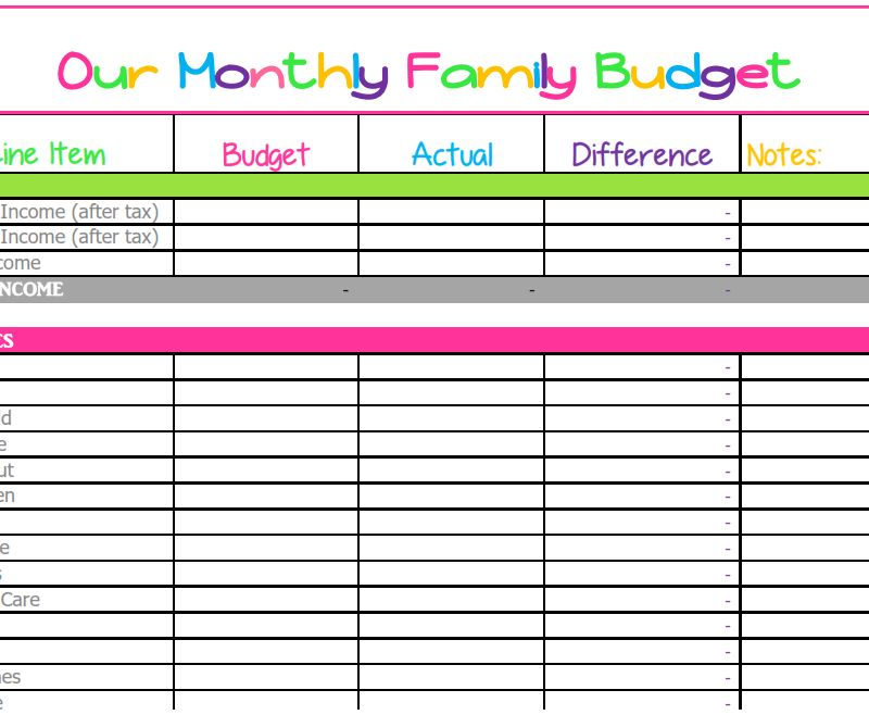 Budget Templates - What Mommy Does