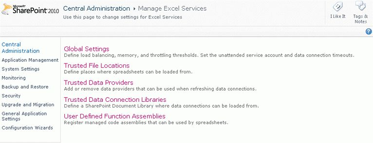 Chapter 12: Excel Services (SharePoint 2010 Web App The Complete ...
