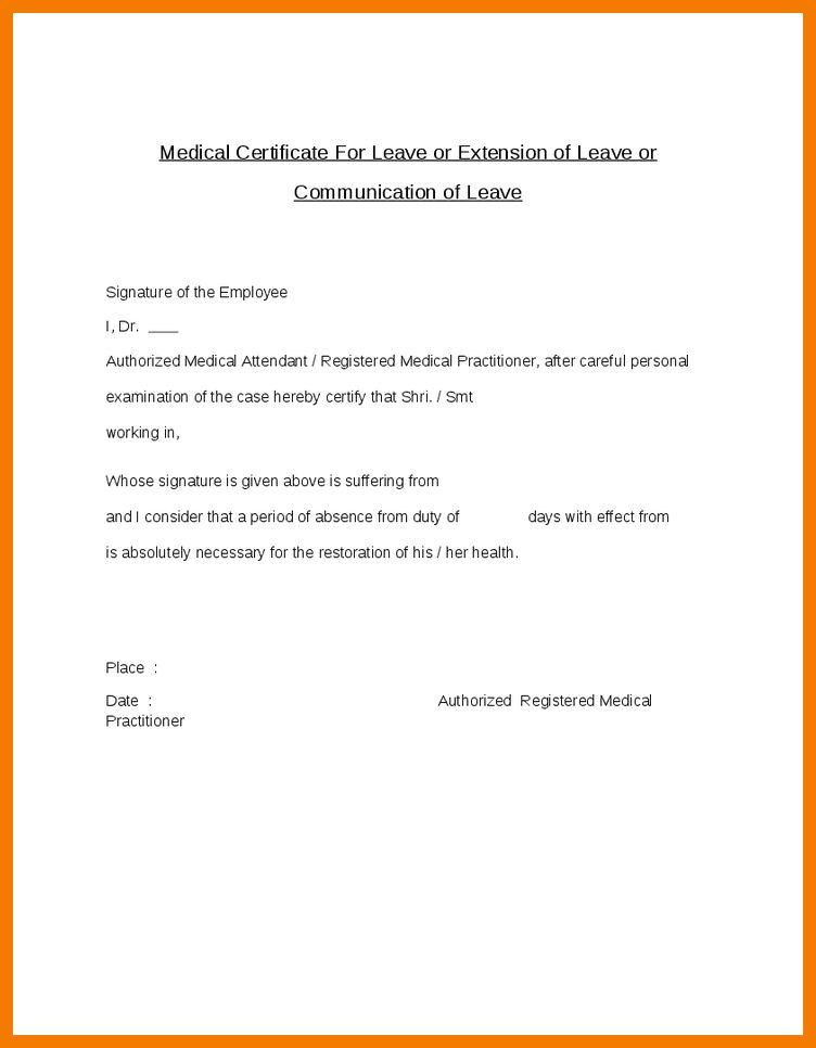 Best Sample Medical Certificates Photos - Best Resume Examples for ...