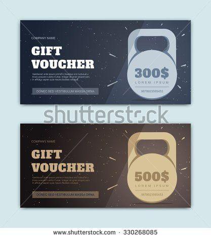 Vector Black Gift Voucher Sports Fitness Stock Vector 330268085 ...