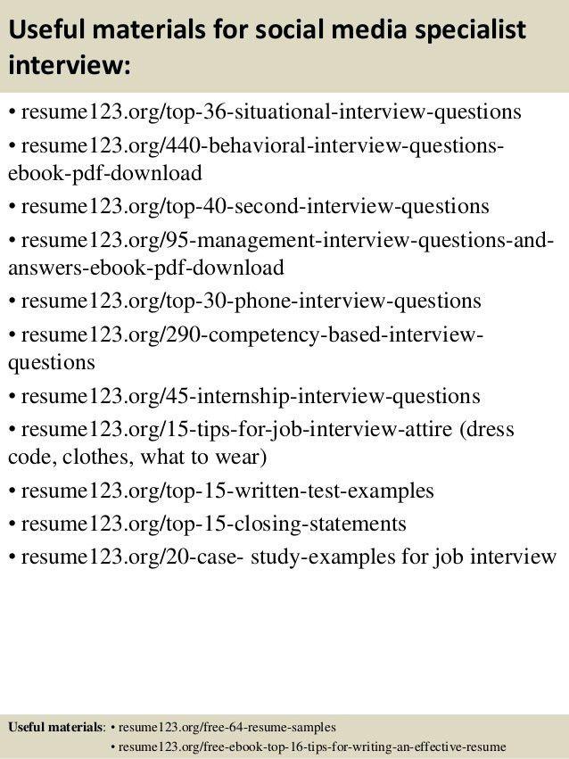 Top 8 social media specialist resume samples
