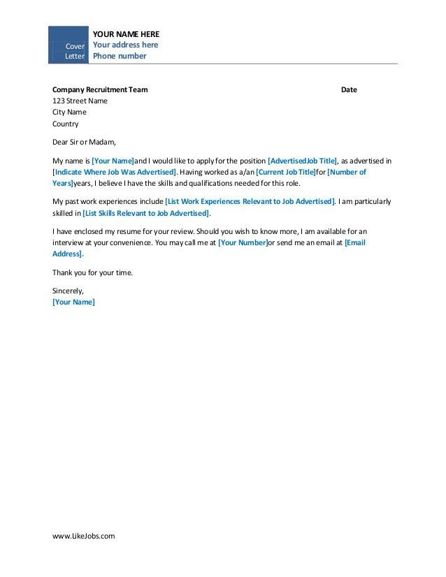 easy cover letter template basic cover letter to working well as ...