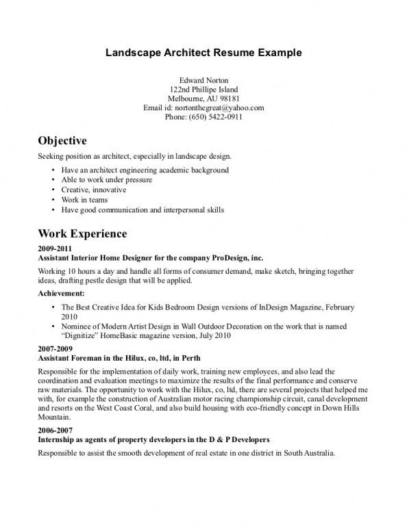 Landscaping Resume Examples | Free Resume Templates