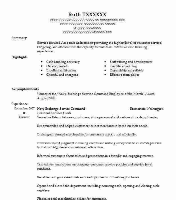 High Quality 9 Amazing Personal Services Resume Examples | LiveCareer