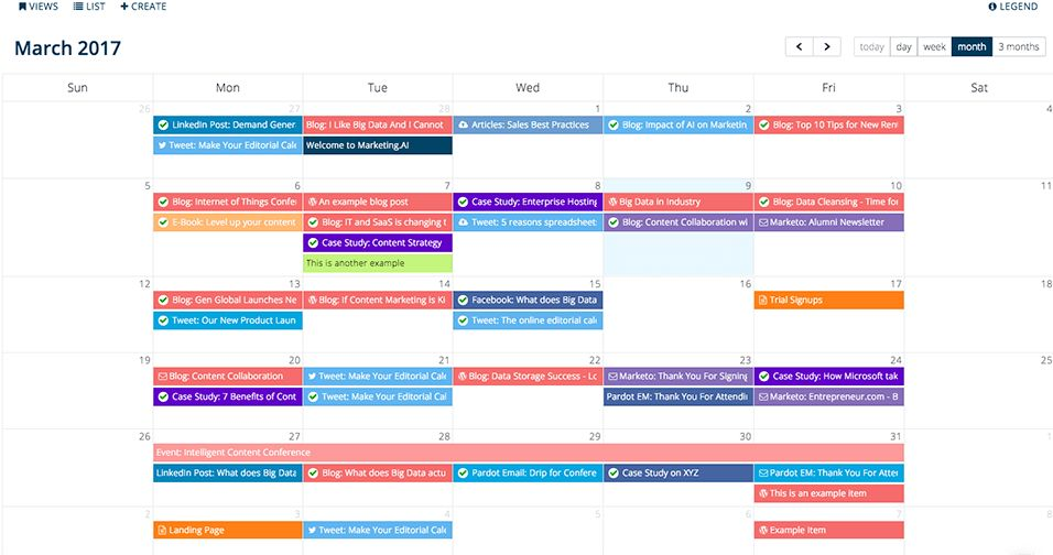 Leverage the power of a digital editorial calendar for content ...
