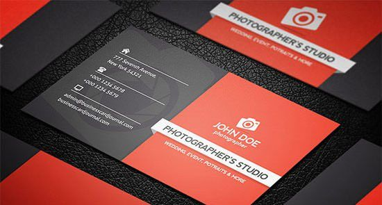 44+ Premium Business Card Templates for Professional Photographers ...