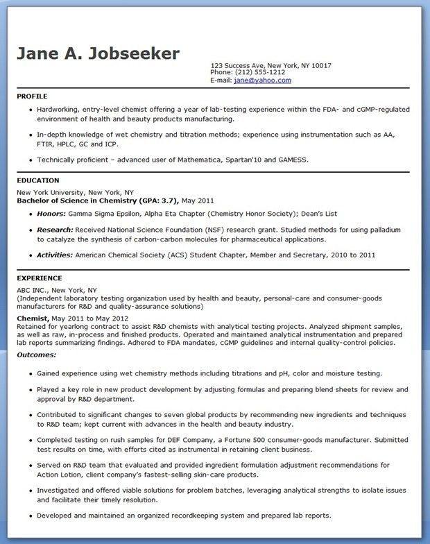 Chemical Engineering Resume Template : Vinodomia