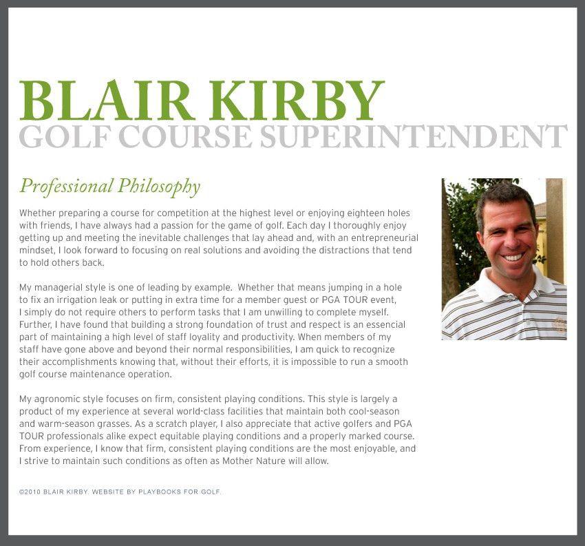 Blair Kirby :: Golf Course Superintendent