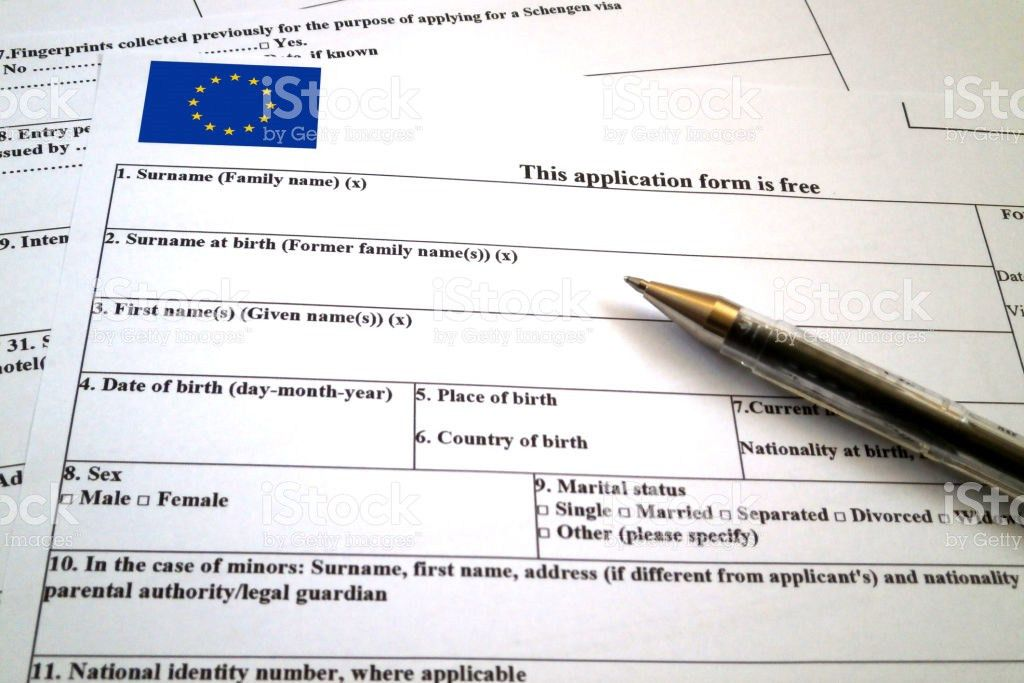Schengen Visa Application Form stock photo 672080696 | iStock