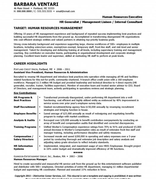 Pretentious Design Ideas Human Resource Manager Resume 4 Resume ...