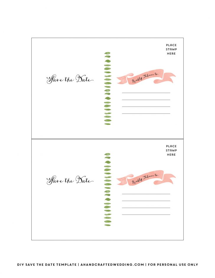 Best Of Free Wedding Save the Date Postcard Templates | software ...