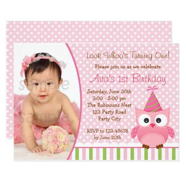 Birthday Invites: Attractive 1St Birthday Invitations Girl Ideas ...