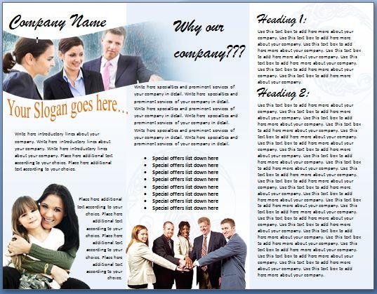 Brochure Format – Word Documents