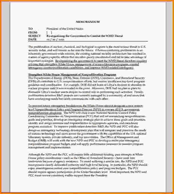 9+ policy memo example - LetterHead Template Sample