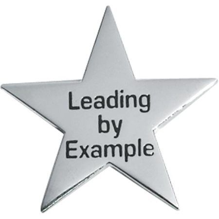 Leadership Award Pin, Leading By Example Silver Star | Anderson's