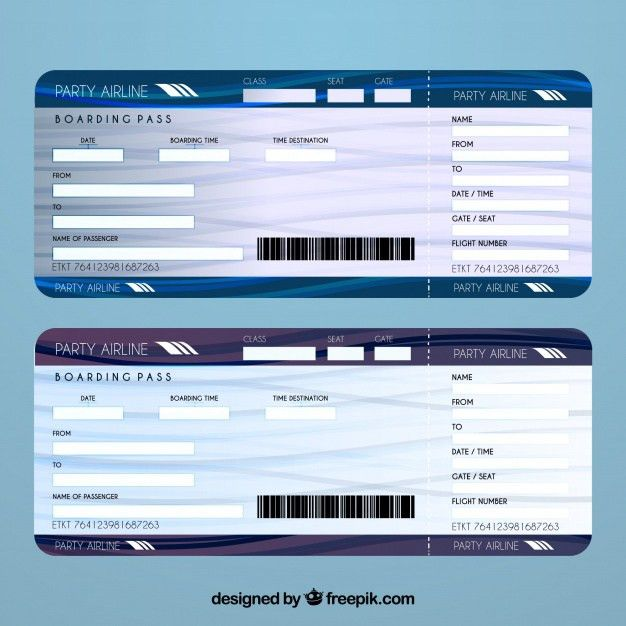 Airline ticket template Vector | Free Download
