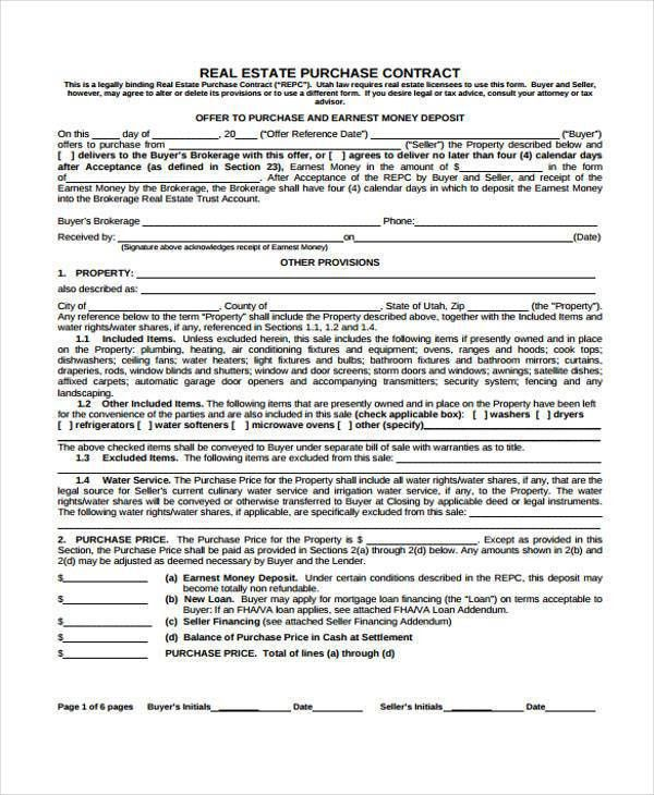 7+ Purchase Contract Form Samples - Free Sample, Example Format ...
