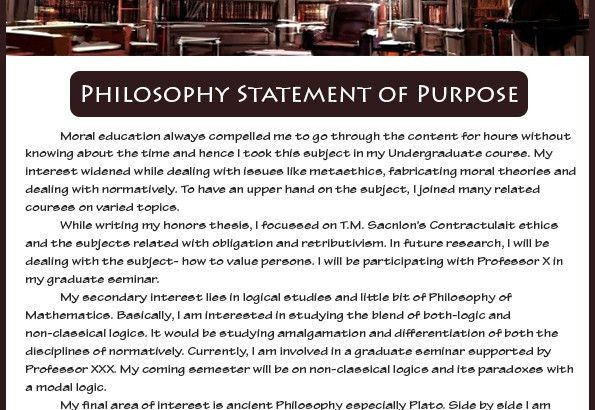How to write an effective Philosophy statement of purpose Sample ...