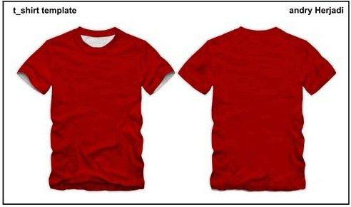 Vector T-shirt template Free vector in Coreldraw cdr ( .cdr ...