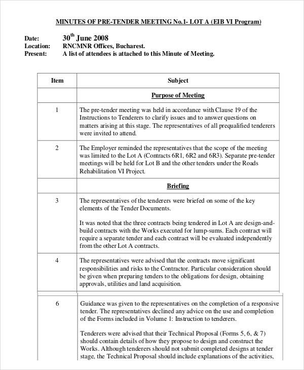 Minutes Writing Template – 10+ Free Word, PDF Documents Download ...