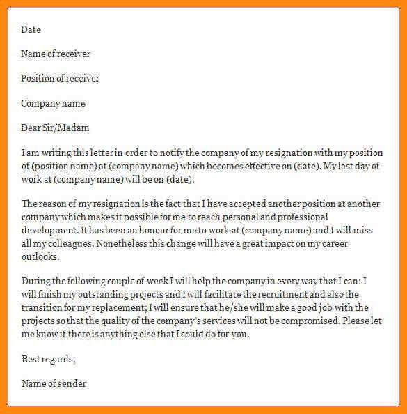 9+ formal resignation letter sample | nurse resumed
