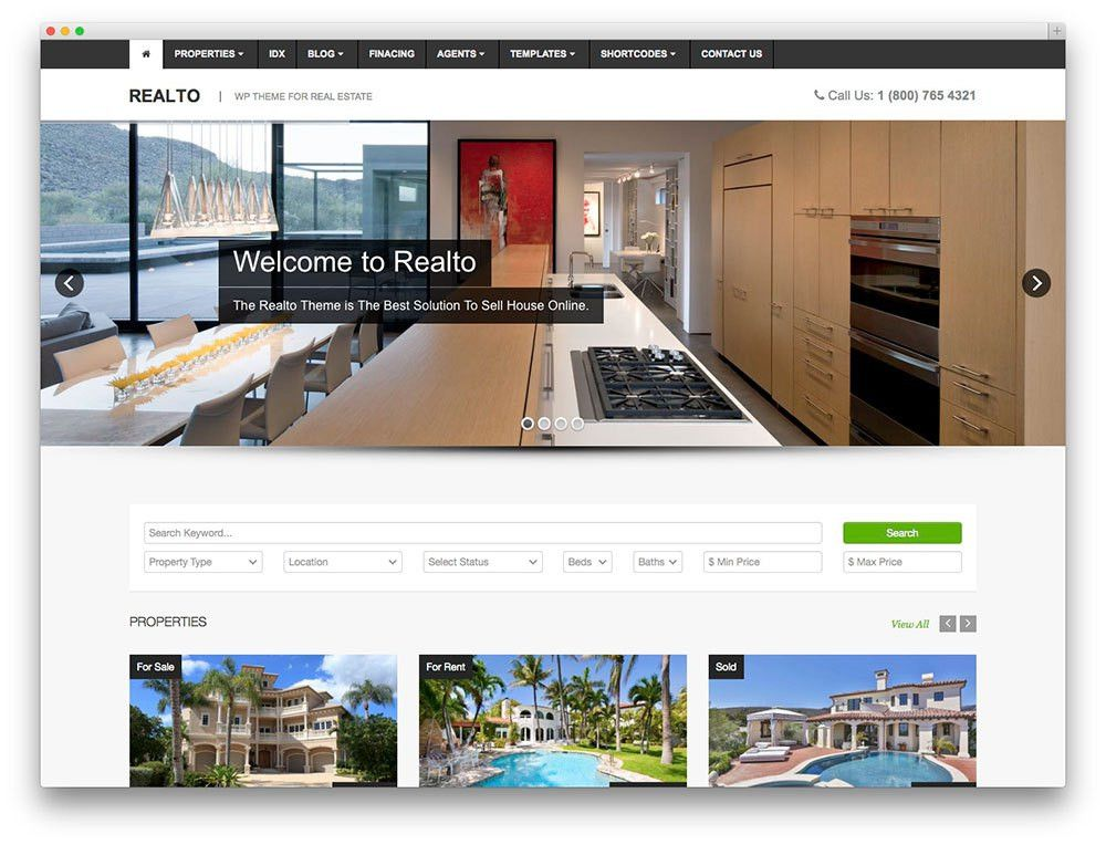 More Than 40 Beautiful and Responsive Real Estate WordPress Themes ...