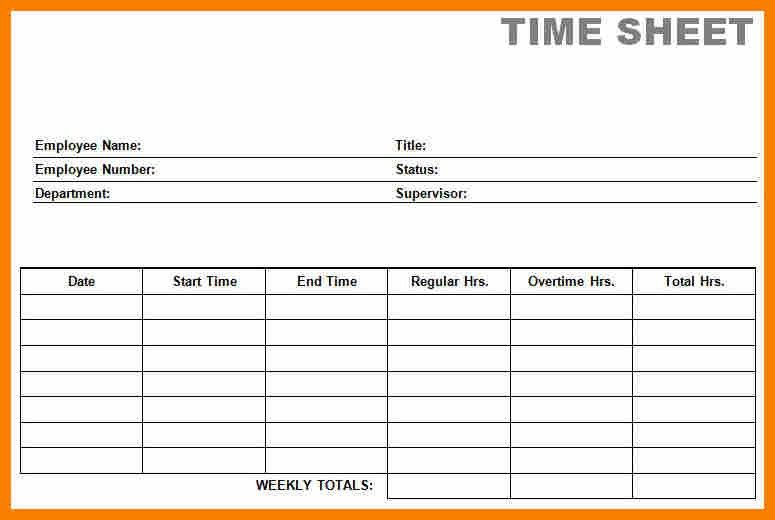 9+ free time sheet printable | monthly budget forms