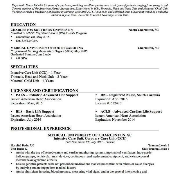 Professional Nursing Resume Template. Professional Nursing Resumes ...