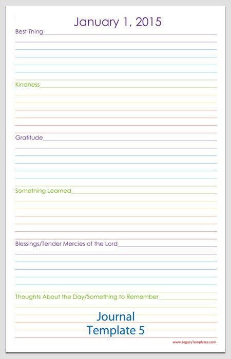 Journal Template - Free printable journal pages. This journal is ...