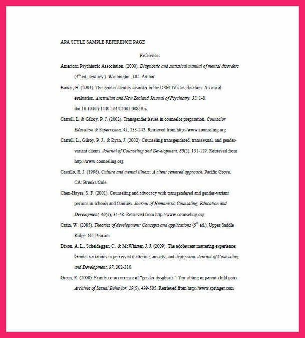 list of references template   bio letter format