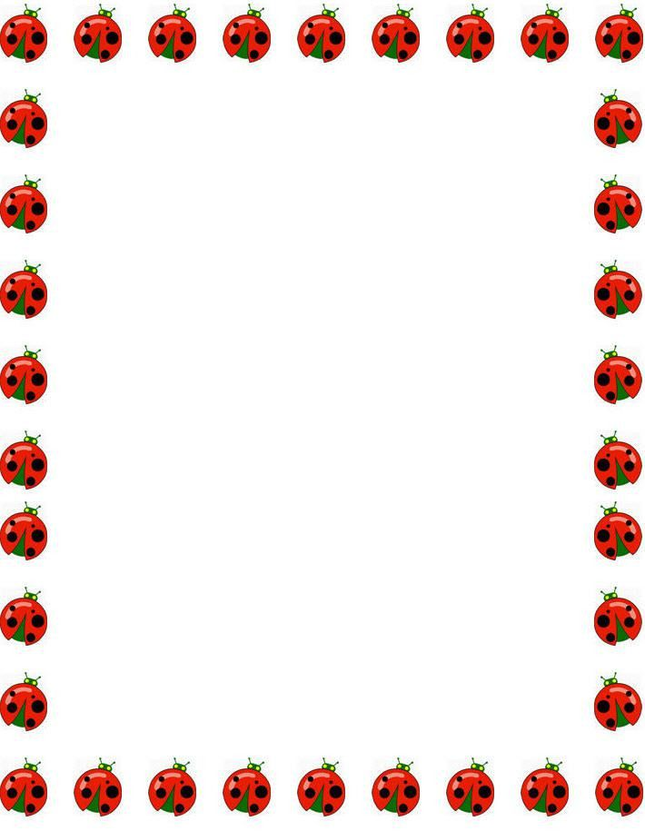 free ladybugs border stationery, free printable ladybugs border ...