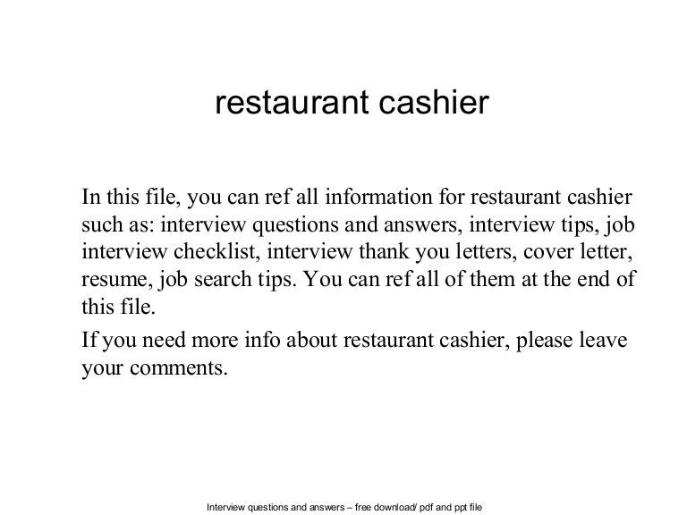 checkers fast food cashier job description fast food cook job ...