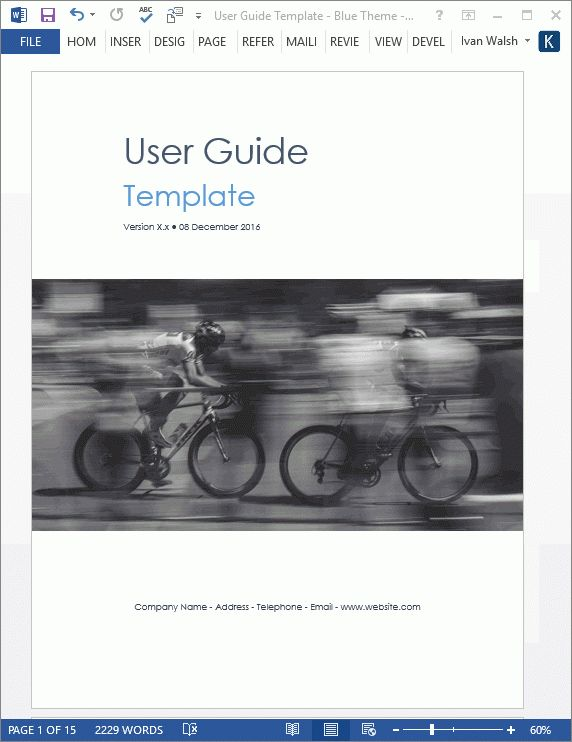 User Guide Template - Download MS Word templates and free forms
