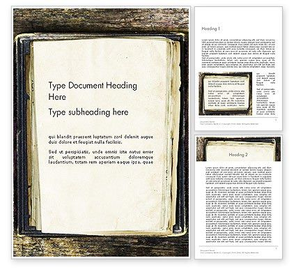 Old Notebook Word Template 14055 | PoweredTemplate.com