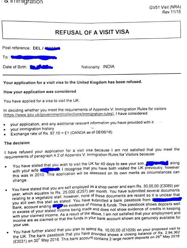 UK visitor visa refused for parents - want to re-apply - Travel ...