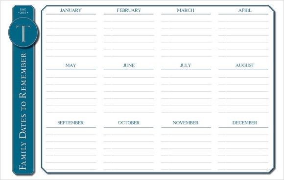 Event Calendar Template - 9+ Premium and Free Download for Excel